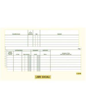 Registro libro soci spa - srl 31x24,5 47pag. e2376 E2376 8023328237608 E2376_50238 by Edipro