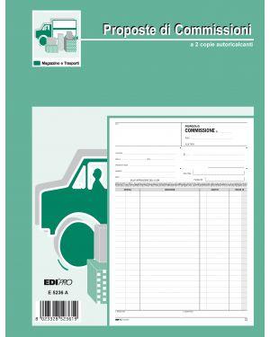 Blocco copia commissioni 29,7x21cm 50fg 2 copie autoric. e5236a edipro E5236A 8023328523619 E5236A_50265 by Edipro