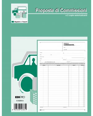 Blocco copia commissioni 29,7x21cm 50fg 2 copie autoric. e5236a edipro E5236A 8023328523619 E5236A_50265 by Esselte