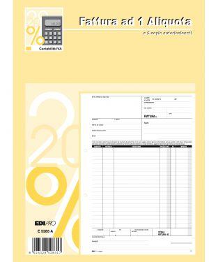 Blocco fatture 1 aliquota iva 50 - 50 fogli autoric. 29,7x21 e5283a E5283A 8023328528317 E5283A_50268 by Edipro