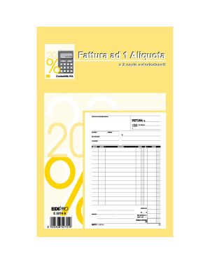 Blocco fatture 1 aliquota iva 50 - 50 fogli autoric. 23x15 e5274a E5274A 8023328527419 E5274A_50269 by Edipro