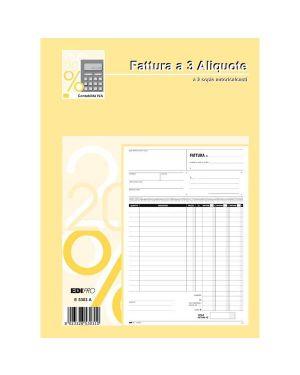 Blocco fatture 3 aliquote iva 2copie 50fogli autoric. 29,7x21 e5303a E5303A 8023328530310 E5303A_50270 by Edipro