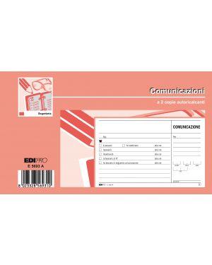 Blocco comunicazioni telefoniche 50/50 fogli autoric. 9,9x17 e5693a E5693A_50286 by Esselte