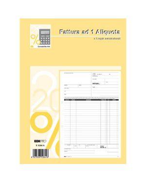 Blocco fatture 1 aliquota iva 33 - 33 - 33 fogli autoric. 29,7x21 e5284a E5284A 8023328528416 E5284A_50293