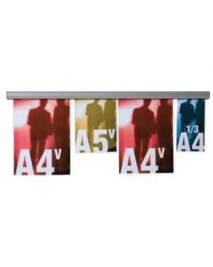 Barra appendifogli opla in alluminio cm.70 STUDIO T 1109033 8033162462210 1109033_50526 by Esselte