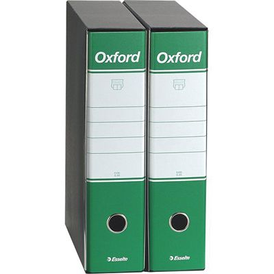 Registratore oxford commerciale dorso 8 verde ESSELTE 390783180 8004157783184