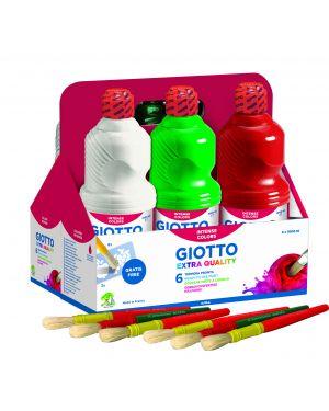 Schoolpack 6 flaconi tempera pronta 1000ml assortita giotto 534600 8000825997099 534600_51282 by Giotto