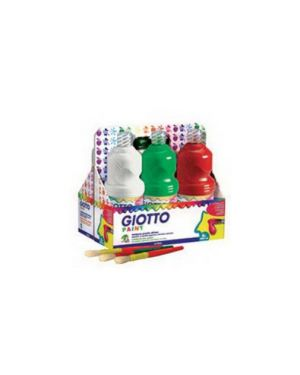 Schoolpack 6 flaconi tempera pronta 1000ml assortita giotto 534600_51282 by Giotto