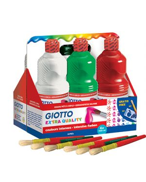 Schoolpack 6 flaconi tempera pronta 1000ml assortita giotto 534600 8000825997099 534600_51282 by Giotto