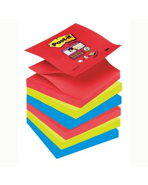 Blocco 90foglietti post-it®super sticky z-notes 76x76mm r330-6ss-jp bora bora 44865 74001 A 44865
