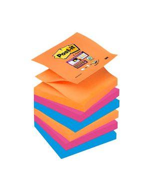 BLOCCO 90foglietti Post-it®Super Sticky Z-Notes 76x76mm R330-6SS-EG BANGKOK CONFEZIONE DA 6 57349
