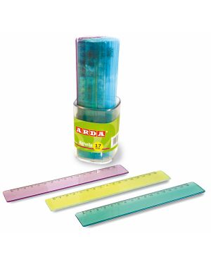 Barattolo 30 righelli 17cm larghi colorati arda 28917BAR 8003438289186 28917BAR_51329 by Arda