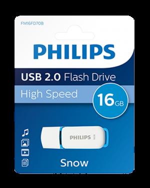 PHILIPS USB 2.0 16GB SNOW EDITION BLU PHMMD16GBS200