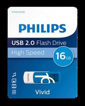 PHILIPS USB 2.0 16GB VIVID EDITION BLU PHMMD16GBVIV
