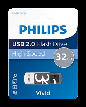 PHILIPS USB 2.0 32GB VIVID EDITION GRIGIO PHMMD32GBVIV