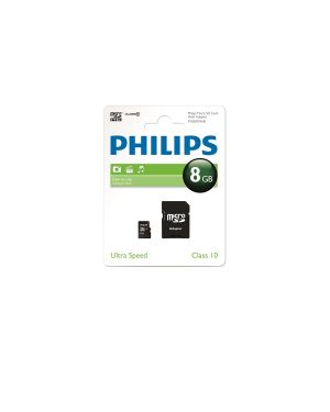 Philips miro sdhc card 8gb class 10 incl. adapter PHMSDMA8GBHCCL10 8712581667542 PHMSDMA8GBHCCL10 by Philips