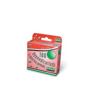 Scatola 100 appendicartelli adesiv. tela gommata art.a373 A-373_51382