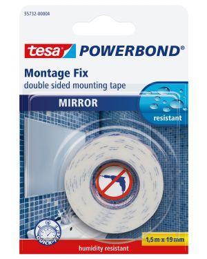 Nastro biadesivo 1,5mtx19mm per specchi in blister 55732-00002-02 4042448843241 55732-00002-02_51418 by Tesa
