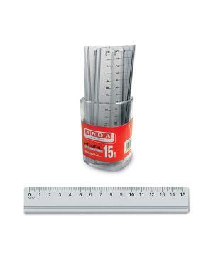 Barattolo 15 righelli alluminio 15cm arda 17915BAR 8003438006981 17915BAR_51595 by Arda