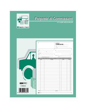 Blocco copia commissioni 29,7x21 100fogli uso mano e5236 edipro E5236 8023328523602 E5236_51912