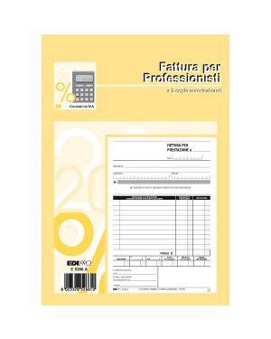 Blocco fatture professionisti 50/50 fogli autor. 23x15 e5266a E5266A_51920 by Esselte