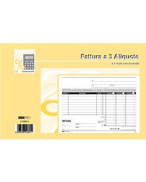 Blocco fatture 3 aliquote iva 2copie 50fogli autoric. 15x23 e5289a E5289A_51922 by Esselte