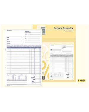 Blocco fattura generica 50 - 50 fogli autoric. 29,7x21 e5296a E5296A 8023328529611 E5296A_51923