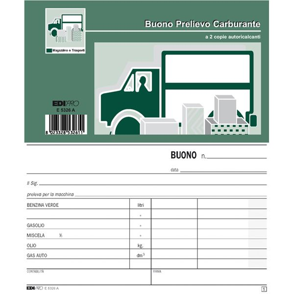 Blocco prelievo carburante 50/50 fg autoric. 9,9x17 e5326a E5326A_52034 by Esselte