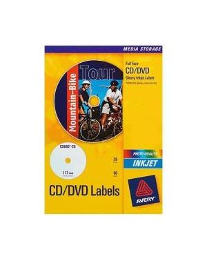 Etichetta adesiva j8676 bianca opaca cd - dvd 25fg a4 Ø117mm (2et - fg) inkjet J8676-25 5014702988936 J8676-25_53139 by Avery