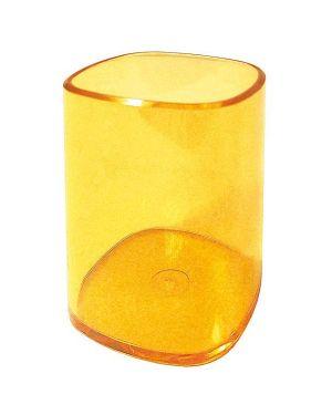 Portapenne bicchiere trasparente arancio arda TR4111AR 8003438411174 TR4111AR_53200 by Arda