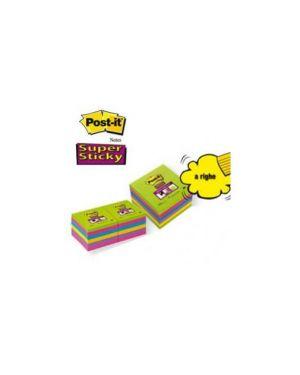 Blocco 90foglietti post-it®super sticky 100x100mm righe ultracolor 675-6succ Confezione da 6 pezzi 27015_53555 by Esselte