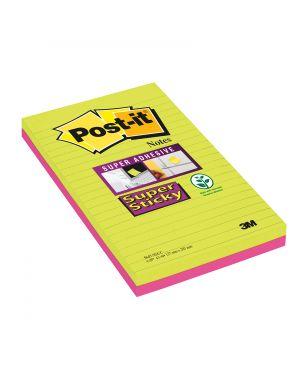 Blocco 45foglietti post-it®super sticky 127x203mm righe ultracolor 845-4succ 73311 53556 A 73311_53556 by Post-it