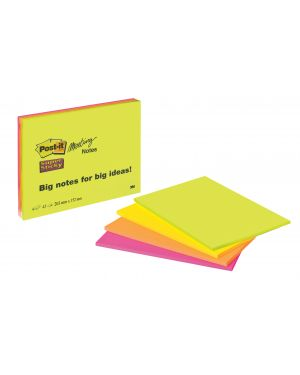 Blocco 45foglietti post-it® super sticky 203x152mm meeting note neon 6845-ssp 7644 53558 A 7644_53558 by Post-it