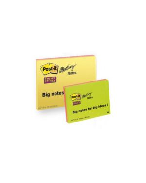 Blocco 45foglietti post-it®super sticky 203x152mm meeting note neon 6845-ssp Confezione da 4 pezzi 7644_53558 by Post-it