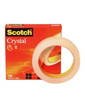 Nastro adesivo scotch crystal clear 600 66mtx19mm 30604 3134375261951 30604_53566