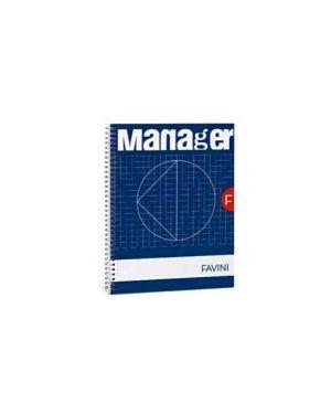 Blocco spiral manager 23x29,7cm 10mm 80fg 82gr 4fori microperforato favini Confezione da 5 pezzi A293814_53818 by No