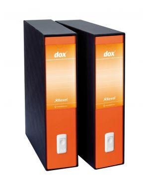 Registratore dox 2 arancio dorso 8cm f.to protocollo rexel D26202_53898