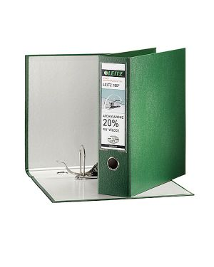 Registratore leitz 180° g63 verde dorso 8cm f.to commerciale leitz 390763180_53901