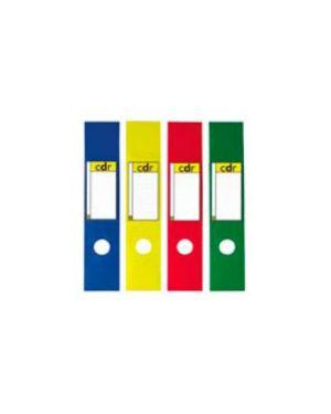 Busta 10 copridorso cdr pvc adesivi giallo 7x34,5cm sei rot 58012536_53905