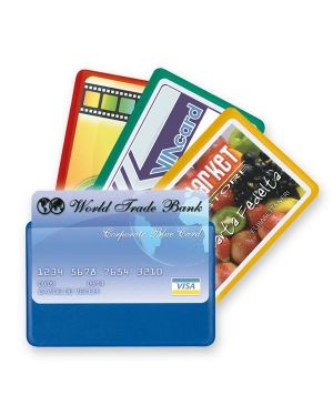 5 buste porta card 1 color 1 tasca 5,8x8,7cm assort 48421190_53983 by Esselte