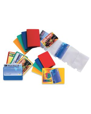 5 buste porta card 2 color a 2 tasche 5,8x8,7cm assort 48421290 8004972019406 48421290_53984