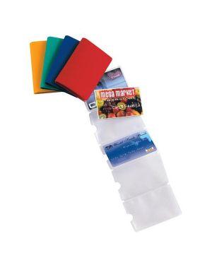 5 buste porta card 6 color a 6 tasche 5,8x8,7cm assort 48421690_53985 by Esselte