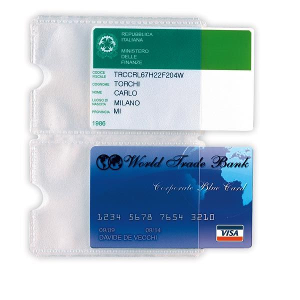 5 buste porta card 2p trasp. a 2 tasche 5,8x8,7cm 484202 8004972019376 484202_53988 by Esselte