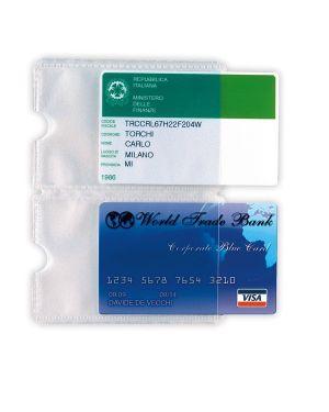 5 buste porta card 2p trasp. a 2 tasche 5,8x8,7cm 484202 8004972019376 484202_53988 by Sei Rota