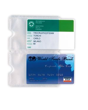 5 buste porta card 2p trasp. a 2 tasche 5,8x8,7cm 484202 8004972019376 484202_53988