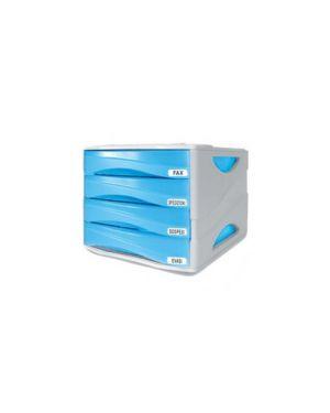 Cassettiera 4 cass. smile azzurro trasp. ard TR15P4PBL_53989