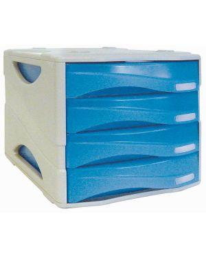 Cassettiera 4 cass. smile azzurro trasp. arda TR15P4PBL 8003438723444 TR15P4PBL_53989 by Arda