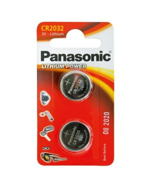 Blister 2 micropile a pastiglia cr2032 litio 3v C302032 5025232060689 C302032_54869 by Panasonic