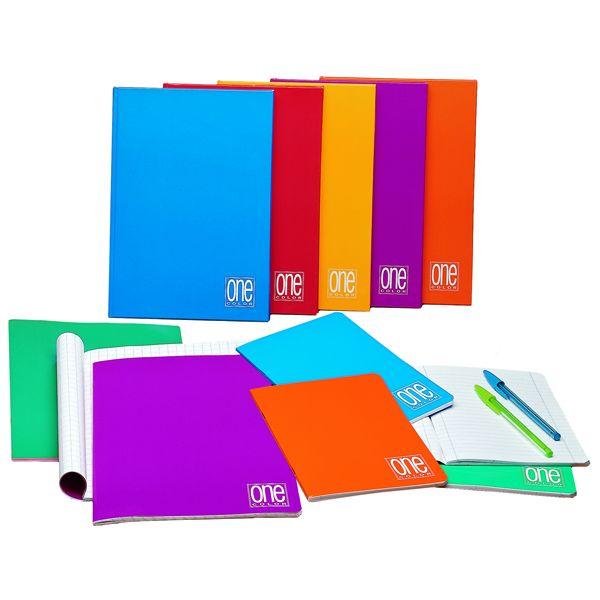 Quaderno a5 1rigo c - margine 20fg+1 80gr one color blasetti 1405  1405_55387 by Esselte