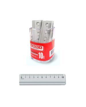 Barattolo 15 righelli alluminio 10cm arda 17910BAR 8003438007438 17910BAR_56789 by Arda